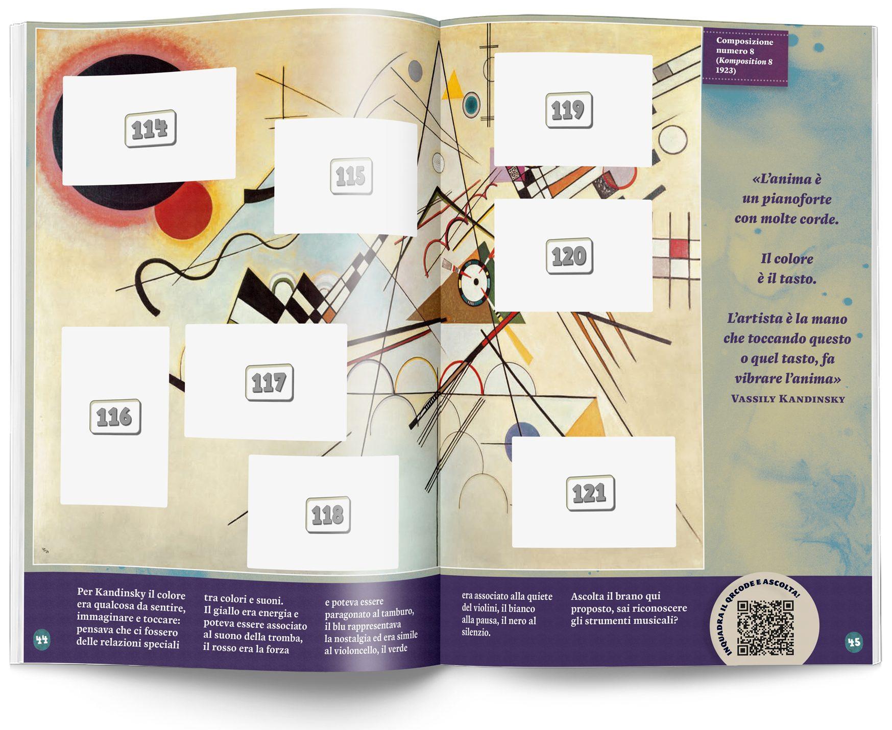 Kandinsky album Argonauta pagina doppia senza figurine