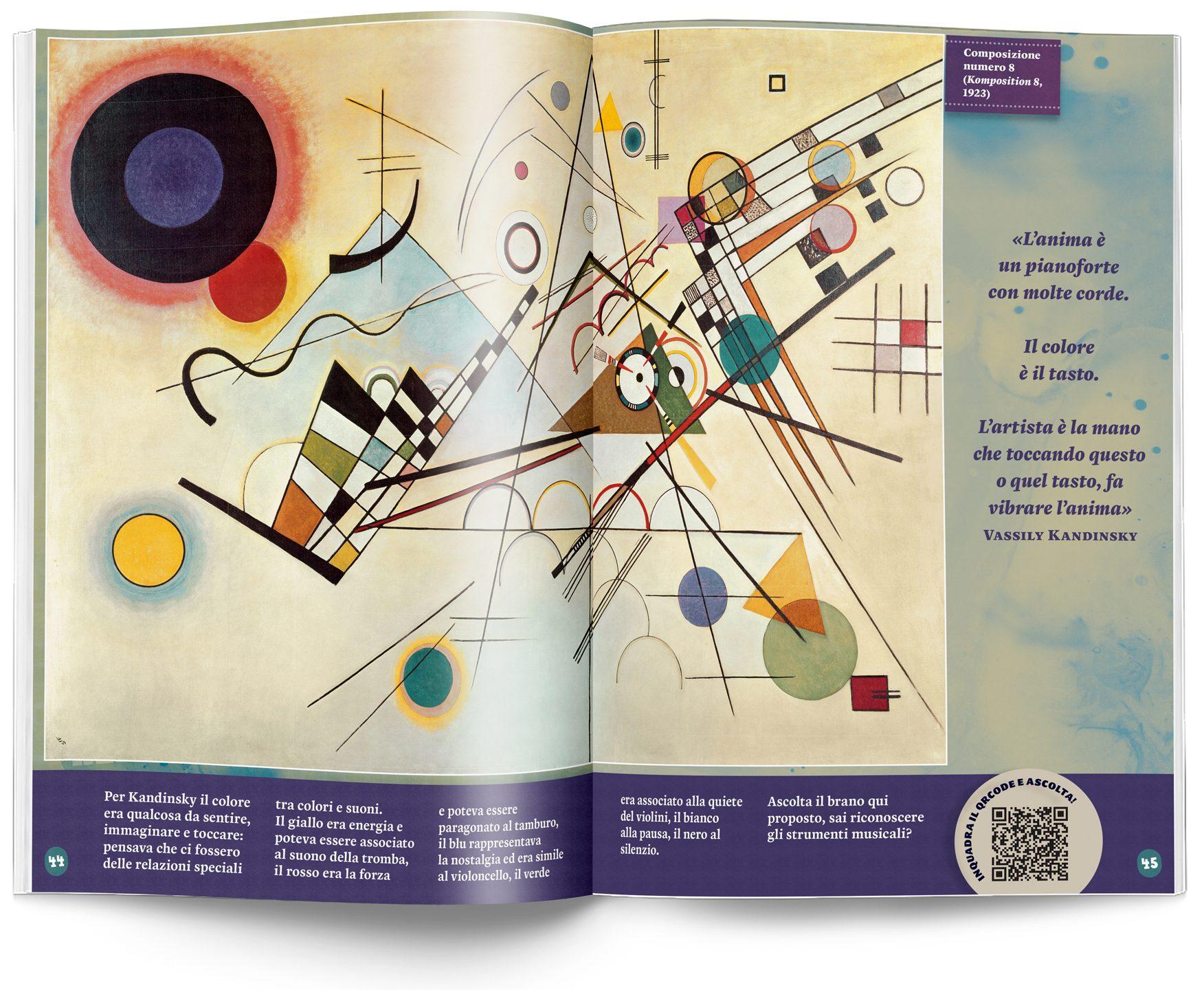 Kandinsky album Argonauta pagina doppia con figurine