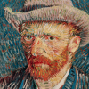 Twin Card 020 - Vincent van Gogh - Autoritratto con cappello di feltro