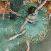 Twin Card 024 - Edgar Degas - Ballerina in verde