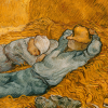 Twin Card 005 - Vincent van - Gogh  La siesta