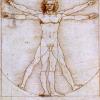 Leonardo da Vinci l'Uomo di Vitruvio